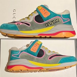GUCCI G Line Suede Sneakers multicolor NWT